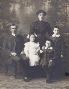 Mr Donald McLaren, his wife Margaret, their sons Donald(standing, aged 10), Angus (aged 9) and their daughter Janet (aged 6) in our opening year, 1912.